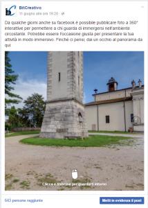 fotosfera su facebook nella pagina bitcreativo