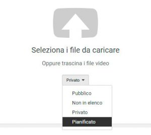 Pianifica i video su youtube